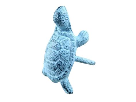 buy rustic blue whitewashed cast iron turtle napkin