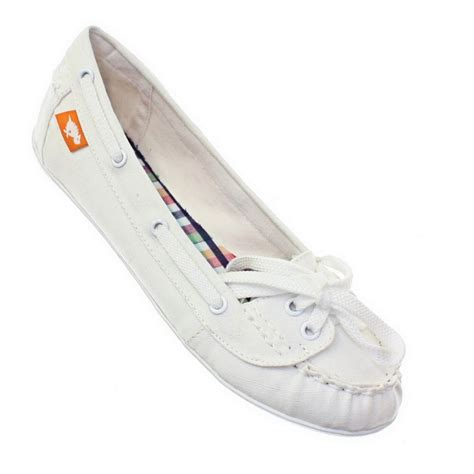 womens rocket docked white boat deck shoes loafers