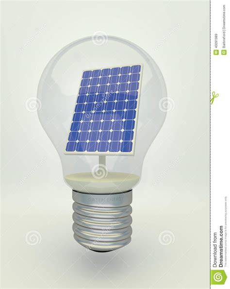 Solar Panel Light Bulb Solar Panel In Light Bulb Stock Photo Image 40091989