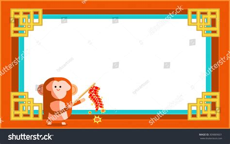 new year monkey border happy new year festival