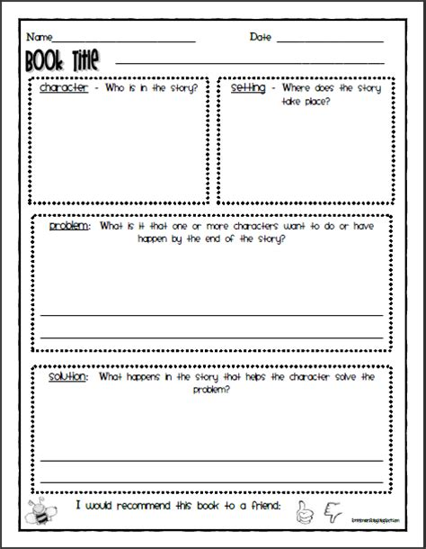Reading Response Worksheets by Mrs Brinkman S Listening Center Activity