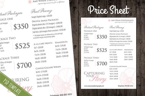 Price List Template Pricing Sheet Flyer Templates On Creative Market Dj Price List Template