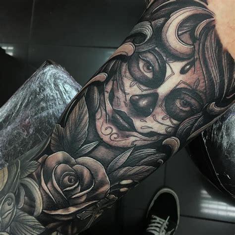 skull girl tattoo sugar skull tattoos i like tattoos mexican