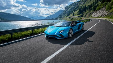 lamborghini aventador roadster sv 4k hd desktop wallpaper lamborghini aventador s roadster 4k 2018 wallpaper hd car wallpapers id 8707