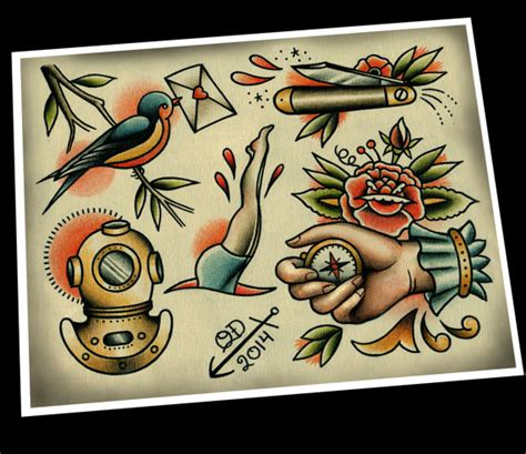 Nautical Tattoo Flash 2 Nautical Flash 2