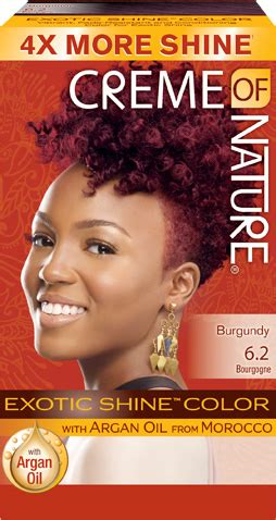 creme of nature hair color 6 2 burgundy blaze shine hair color creme of nature