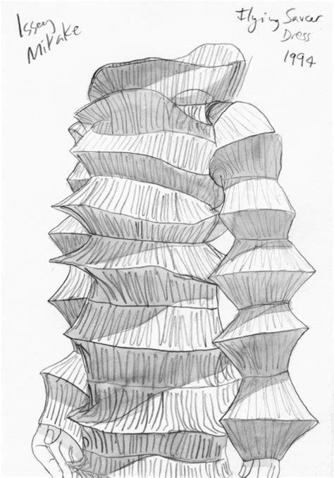 Issey Miyake sketches - Honey Clarke | design studio in