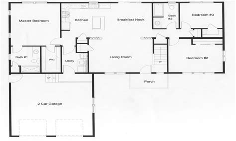 Open Floor Plans For Ranch Homes | ranch with barn style homes ranch homes with open floor