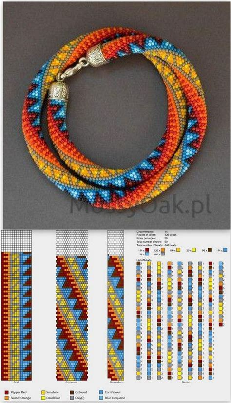 bead crochet rope patterns 1034 best images about collares chaquiras on