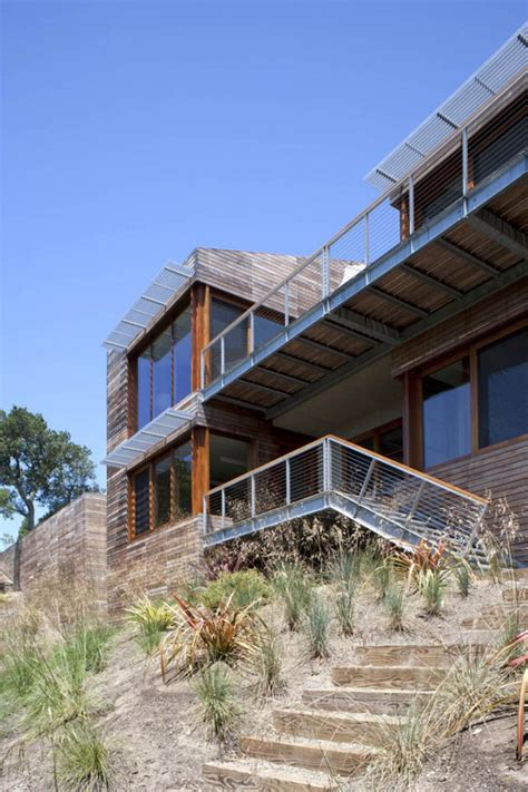 turnbull architects residential viewing platform overlooking san francisco bay