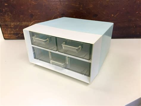 White Desk Organizer Blue White Desk Organizer With 3 Drawers Cro Made In