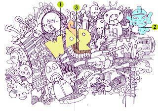 doodle seram cara membuat doodle