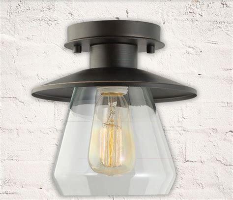 Flush Mount Ceiling Light Shade Vintage 1 Light Semi Flush Mount Ceiling Glass L Shade Decor Lighting Fixture Ebay