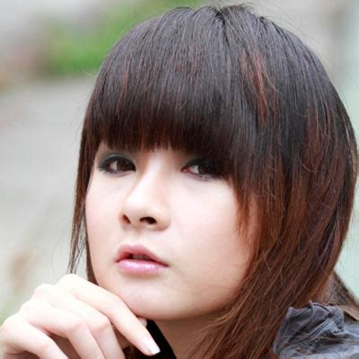asian stars with bangs 5 ways to wear blunt fringe hairstyle stars