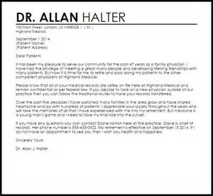 Resume Cover Letter Tips by Physician Retirement Letter Retirement Letters Livecareer