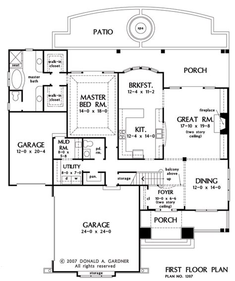 canterbury floor plan home plan the canterbury by donald a gardner architects