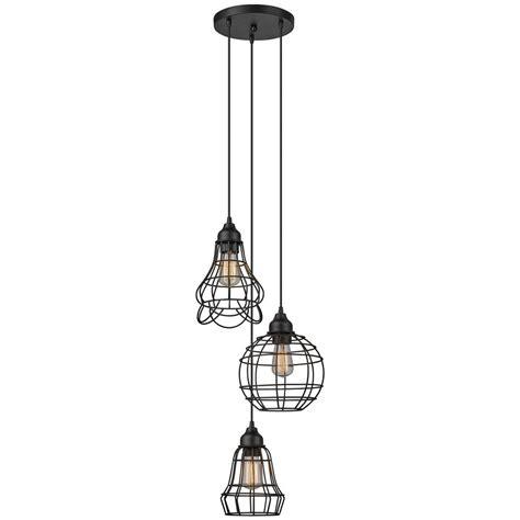 cluster globe pendant lighting globe electric jorah 3 light rubbed bronze cage