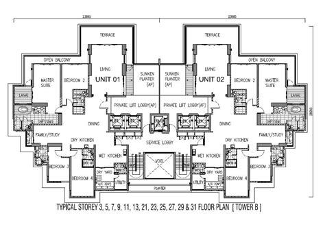 one tanjong floor plan - 1 Tanjung Penang Floor Plan