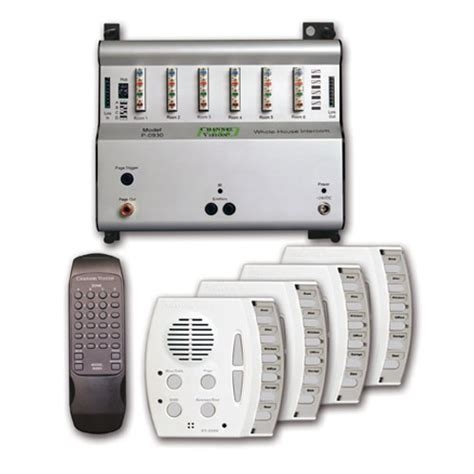 home intercom system kit st 0934 channel vision technology