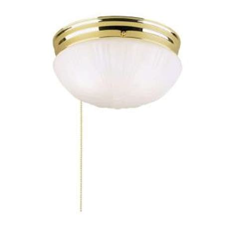 Ceiling Light Pull Chain Westinghouse 2 Light Polished Brass Interior Ceiling Flushmount With Pull Chain And Frosted