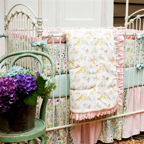 Love Birds Crib Bedding Baby Girl Crib Bedding In Love Baby Bedding For
