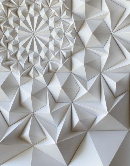 three dimensional origami in this image texture is being used because of its three