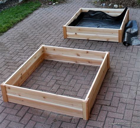 garden boxes for vegetables how to build how to build raised garden bed boxes growing vegetables in our driveway frugal family times