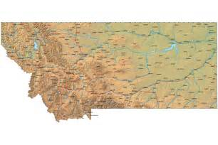 Montana Map Us by Detailed Montana Map Mt Terrain Map