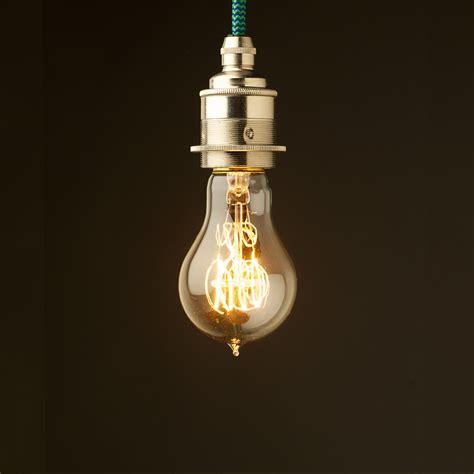 Light Pendant Fitting Edison Style Light Bulb E27 Nickel Fitting