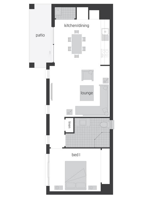 Flat Floor Plan by Flats Floorplans Mcdonald Jones Homes