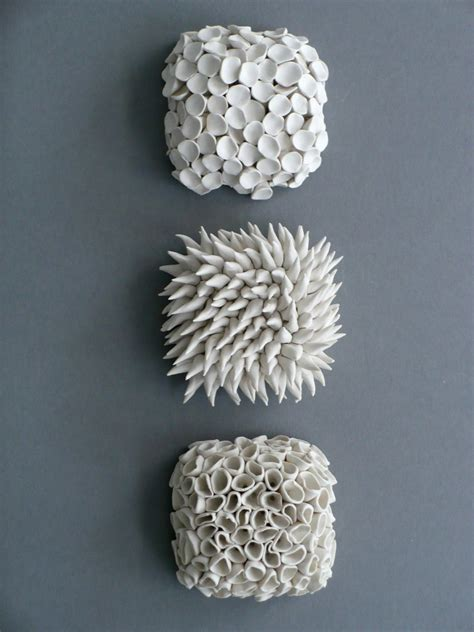 White Textured Vase Cravin Organic Sculptures From Element Clay Studio The