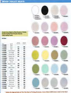 american standard color chart toilet seat color chart