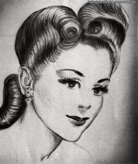 by request 1940s chignon variation emily s vintage visions great hair fridays victory rolls