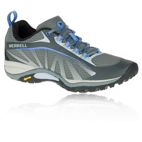 merrell vibram running shoes merrell siren edge womens grey blue vibram walking