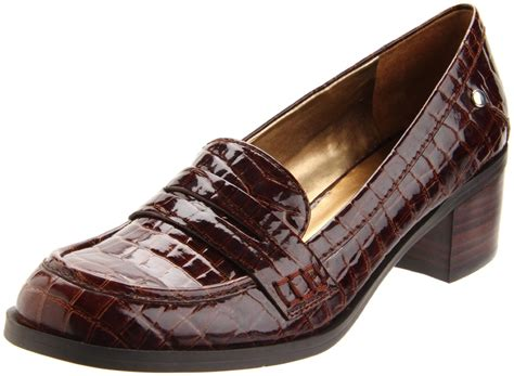 nine west loafer nine west womens newkimmie loafer in brown brown patent