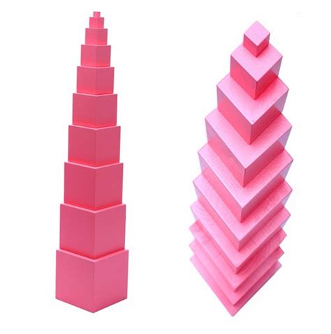 Pink Tower 1 educational toys wooden montessori professional pink tower