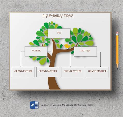 Family Will Template by Microsoft Word Family Tree Template Gallery Template