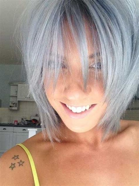 gray shoulder length hairstyles 30 easy short hairstyles for women short hairstyles 2016