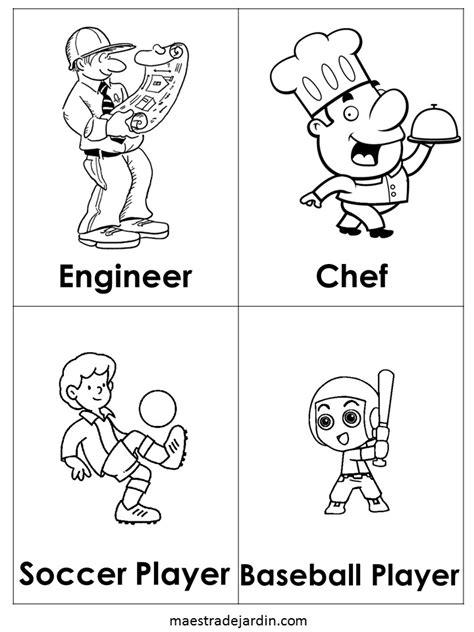 imagenes ingles para niños para colorear profesiones en ingl 233 s para colorear maestra de jard 237 n