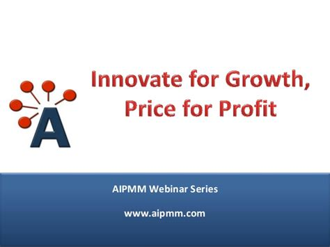 Pricing For Profit innovate for growth price for profit