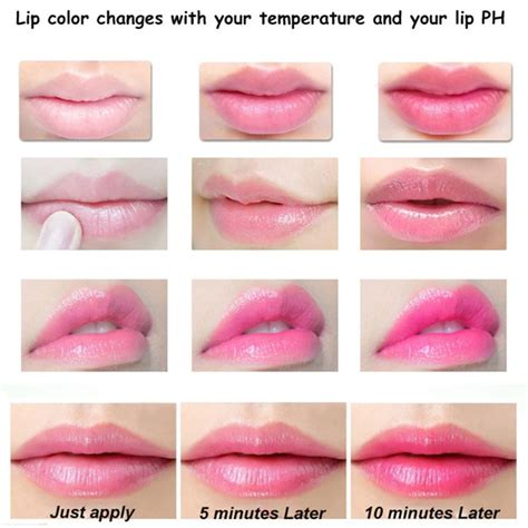 color changing lip balm 3 colors jelly flower lipstick temperature color changing