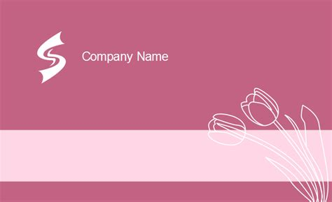 Tulip Card Template by Girly Business Card Templates