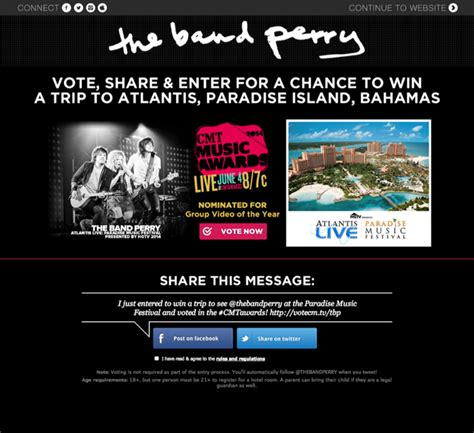 Cmt Sweepstakes - application spotlight the band perry cmt sweepstakes metablocks