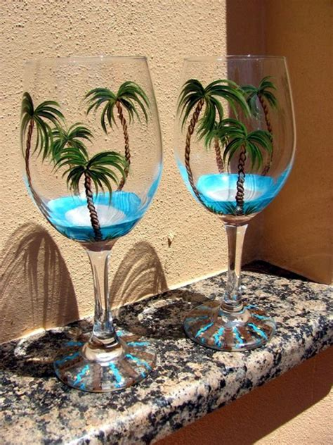 Wine Glass Painting Ideas - 40 artistic wine glass painting ideas bored