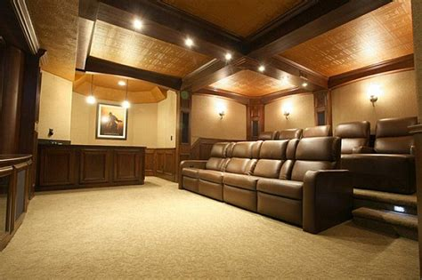 basement photo friday basement theater finished basement ideas low cost basement ceiling ideas
