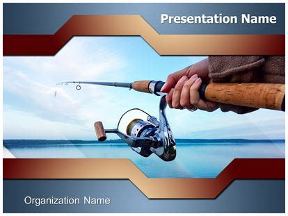 Lake Fishing Powerpoint Template Background Subscriptiontemplates Com Fish Powerpoint Template