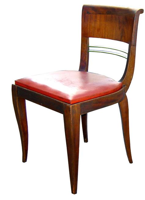 six deco dining chairs modernism