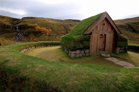 cottage with a grass roof the simple