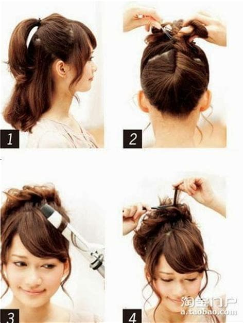 diy hairstyles for long thin hair coiffure facile cheveux fins longs