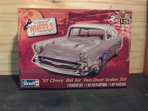 revell 1957 chevrolet bel air sedan model kit sealed in box